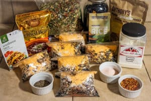 dehydrated homemade backpacking meals